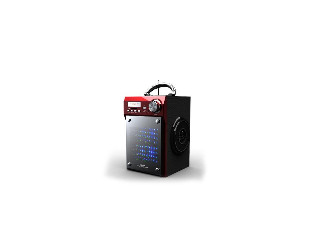 Φορητό Ασύρματο Ηχείο Bluetooth USB/SD/AUX με Ράδιο FM 2x8W σε Μαύρο/Κόκκινο Χρώ τεχνολογία   ηχεία