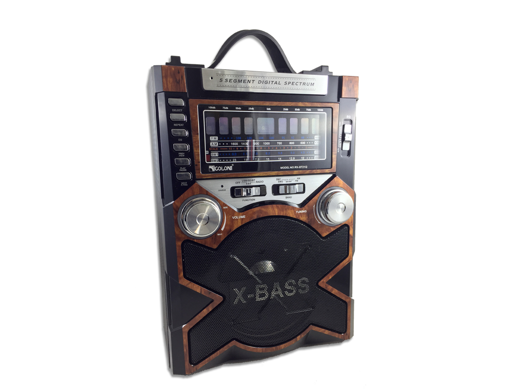 Φορητό Επαναφορτιζόμενο Ασύρματο Ηχείο USB/SD/MIC/AUX με Ράδιο FM/AM σε Μαύρο/Κα τεχνολογία   ηχεία