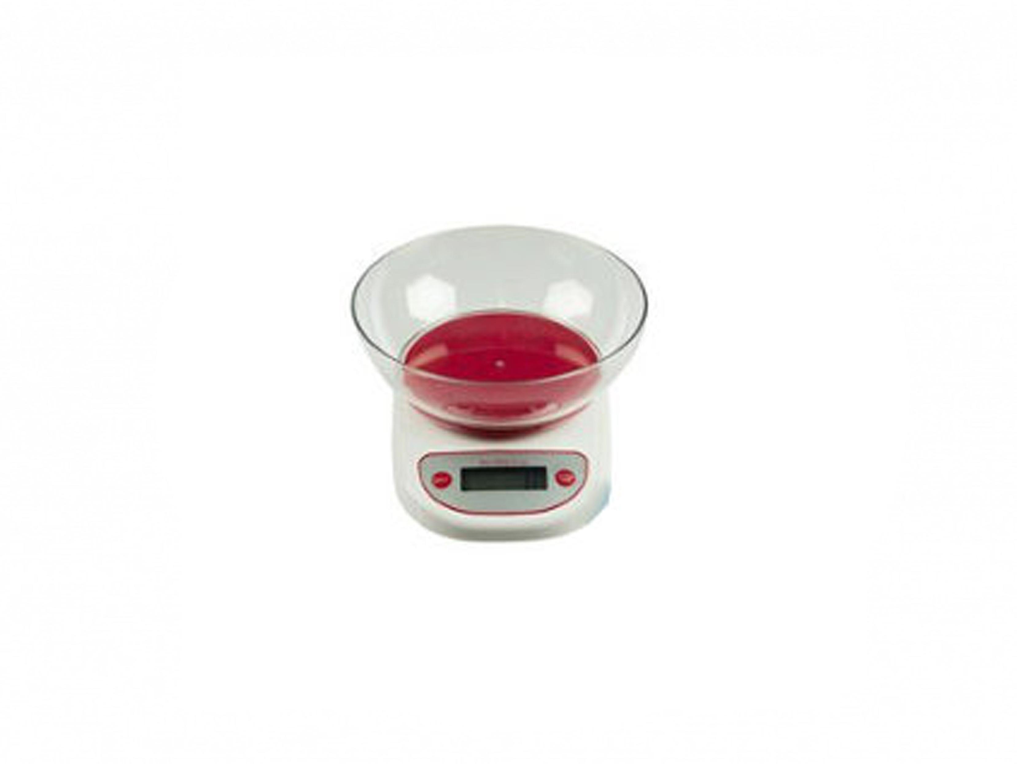 Alpina 93491 Ψηφιακή Ζυγαριά Κουζίνας έως 5Kg Κόκκινο - Alpina οργάνωση κουζίνας   ζυγαριές κουζίνας