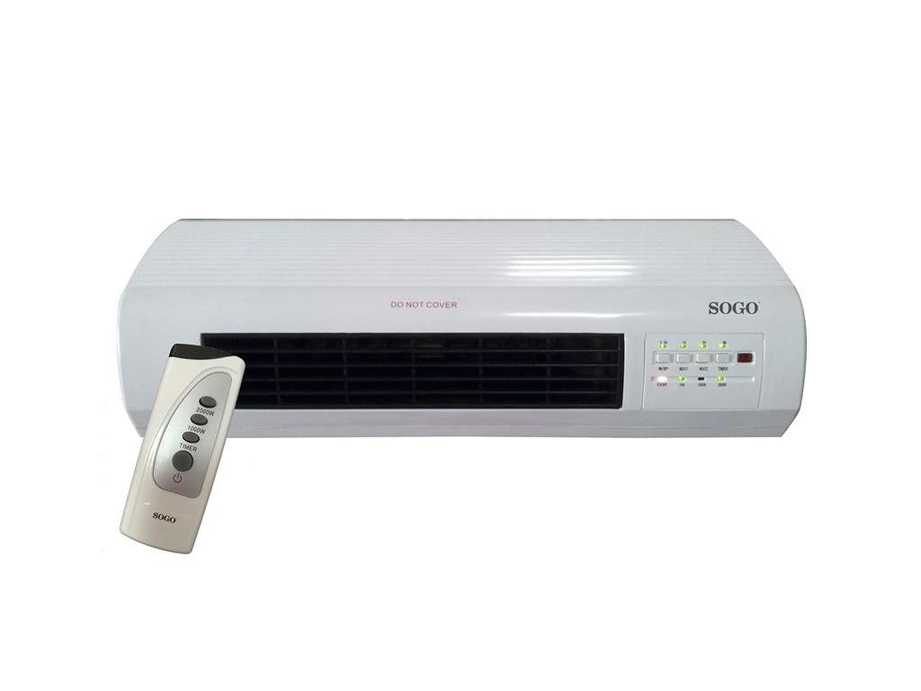 Sogo CAL-SS-18350 Επιτοίχιο Θερμαντικό Σώμα τύπου Air Condition 2000W με Τηλεχει θέρμανση και κλιματισμός   θέρμανση