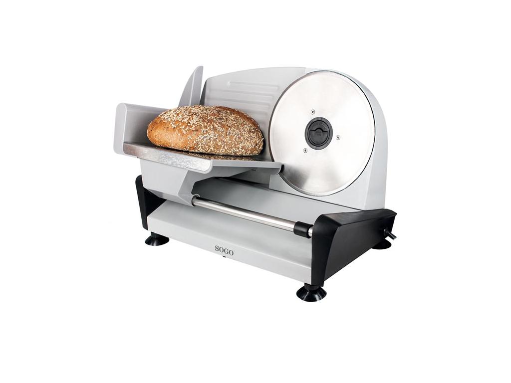 Sogo Μεταλλική Μηχανή Κοπής Ψωμιού, Αλλαντικών ή Τυριών 150W με Λεπίδα από Ανοξε επαγγελματικά