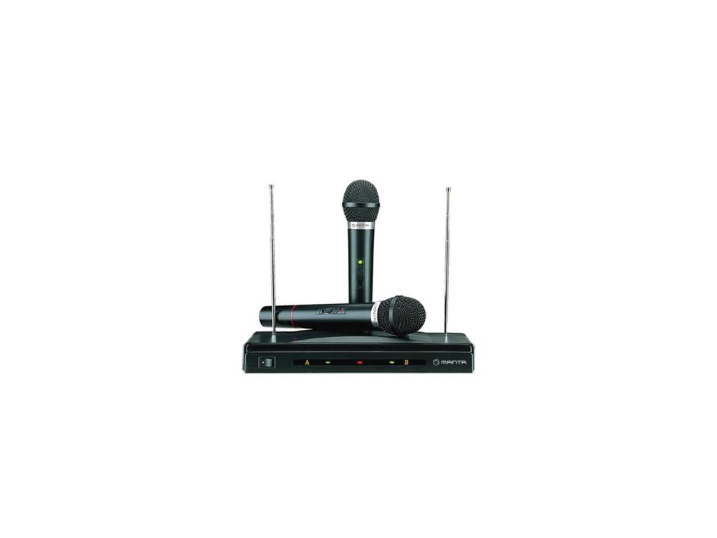 Manta Karaoke Σύστημα για καραόκε Ασύρματο με Μικρόφωνα και Fm Λειτουργία, MA409 τεχνολογία   ηχεία multimedia