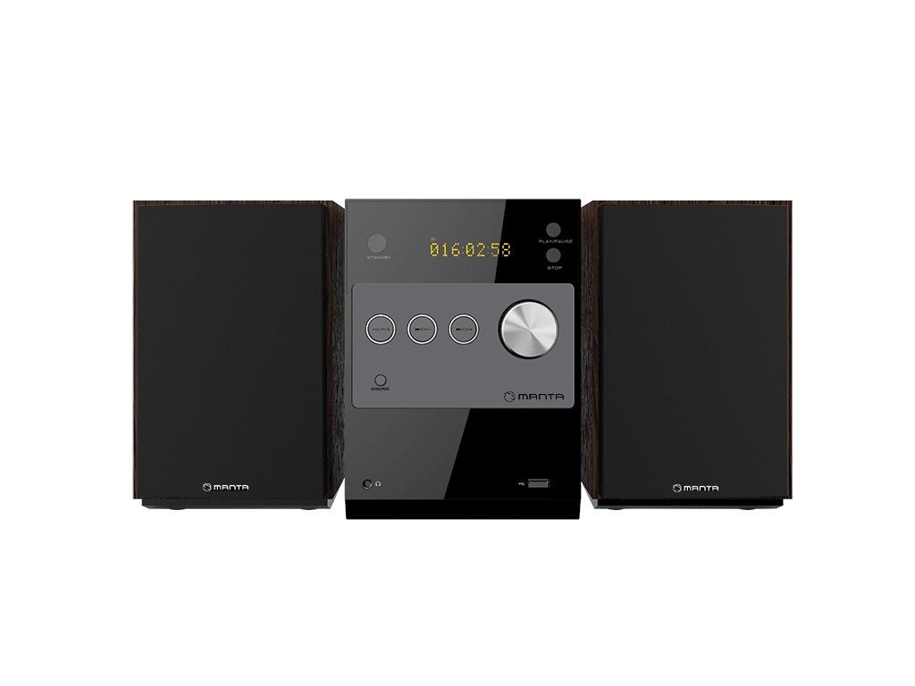 Manta Ηχοσύστημα Bluetooth με USB/AUX/CD/MP3/FM και 2 Ηχεία σε Μαύρο χρώμα, MMS0 τεχνολογία   ηχεία multimedia
