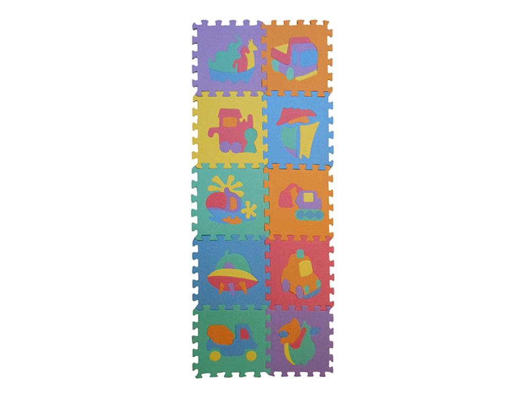 Σετ Παζλ (Puzzle) δαπέδου 10 τεμ. για παιδιά με σχέδια και διάφορα χρώματα - OEM παιχνίδια  παιδί  και  βρέφος   διακόσμηση παιδικού δωματίου