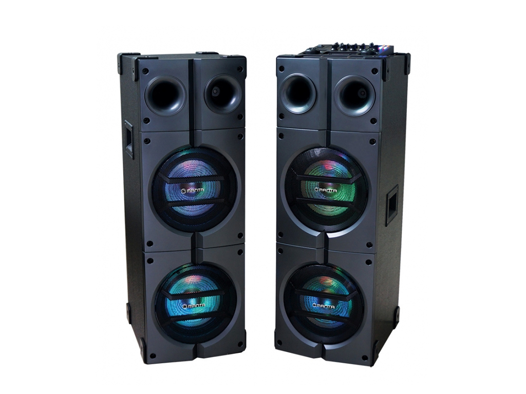 Manta ORACLE Karaoke Ηχοσύστημα για καραόκε 4000W P.M.P.O Bluetooth με LED φωτισ τεχνολογία   ηχεία multimedia