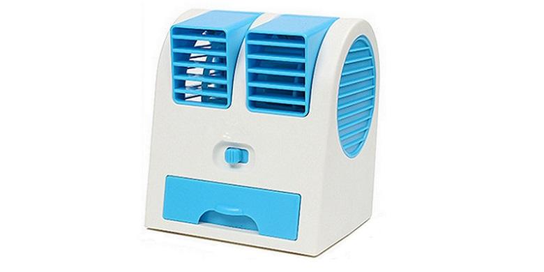 Mini Air Cooler HB-168 Φορητός USB Ανεμιστήρας Μπλε - OEM gadgets   gadgets η υ