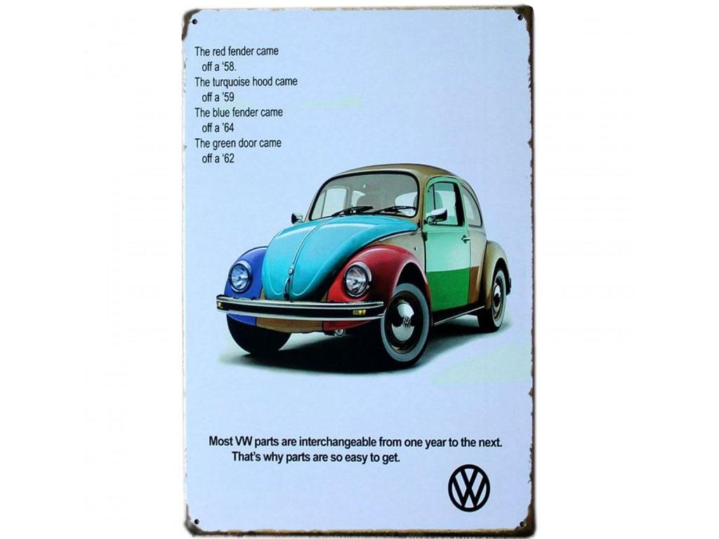 Διακοσμητική Μεταλλική Πινακίδα (20Χ30cm) VW Σκαραβαίος - OEM gadgets   design