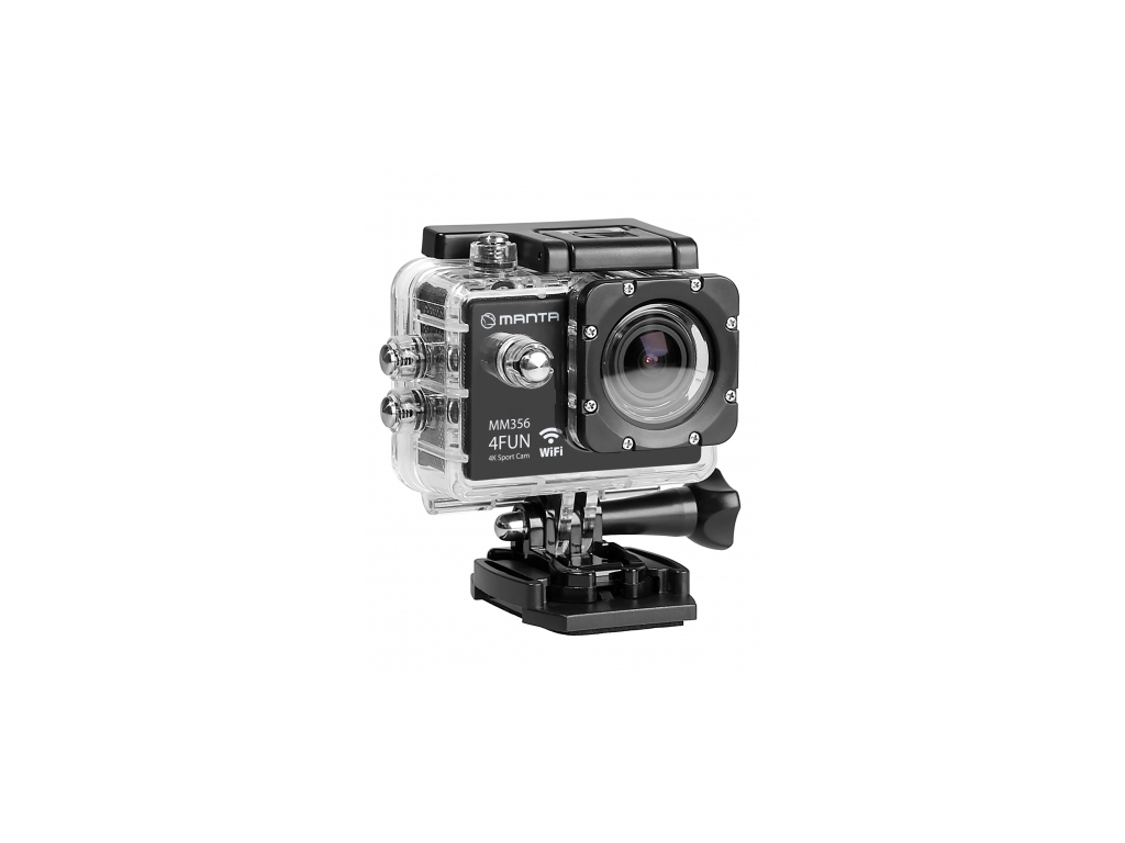 Manta 4FUN Sport Κάμερα 4K WiFi Αδιάβροχη με υποδοχές microUSB/microSD σε Μαύρο χρώμα, MM356
