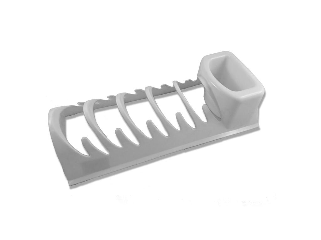Jocca Στεγνωτήριο Πιάτων με θήκες για Μαχαιροπίρουνα 34x15x10cm σε Λευκό χρώμα,  κουζίνα   θερμός και παγούρια