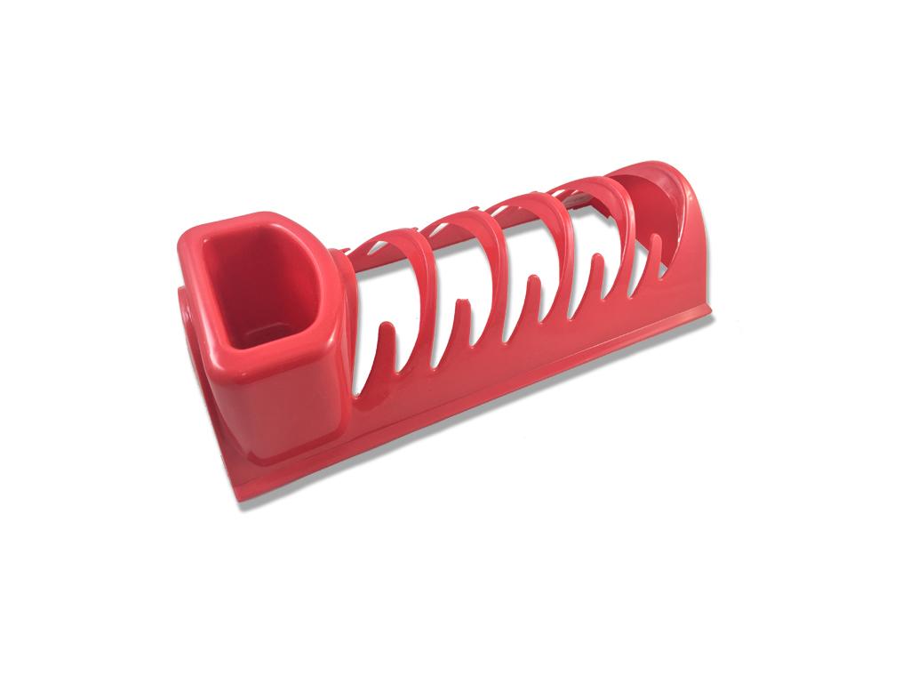 Jocca Στεγνωτήριο Πιάτων με θήκες για Μαχαιροπίρουνα 34x15x10cm σε Κόκκινο χρώμα σπίτι   για την κουζίνα