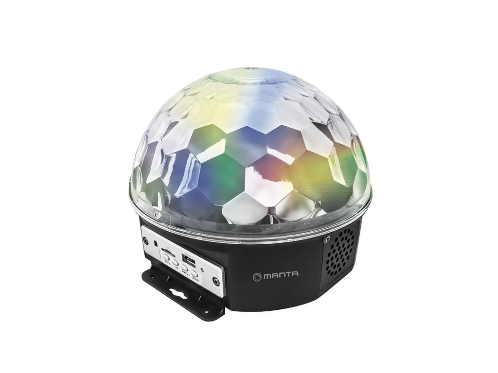 Manta AQUAMARINE Ντισκομπάλα LED (Disco) Bluetooth Φωτορυθμικό με Mp3 Player και εκδηλώσεις και γιορτές   είδη πάρτυ