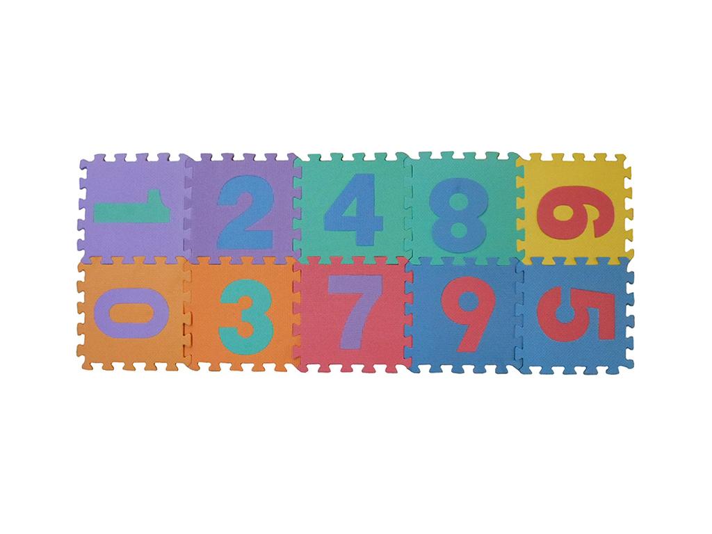 Σετ Παζλ (Puzzle) δαπέδου 10 τεμ. για παιδιά με νούμερα σε διάφορα χρώματα - OEM μωρά και παιδιά   παιδική διακόσμηση