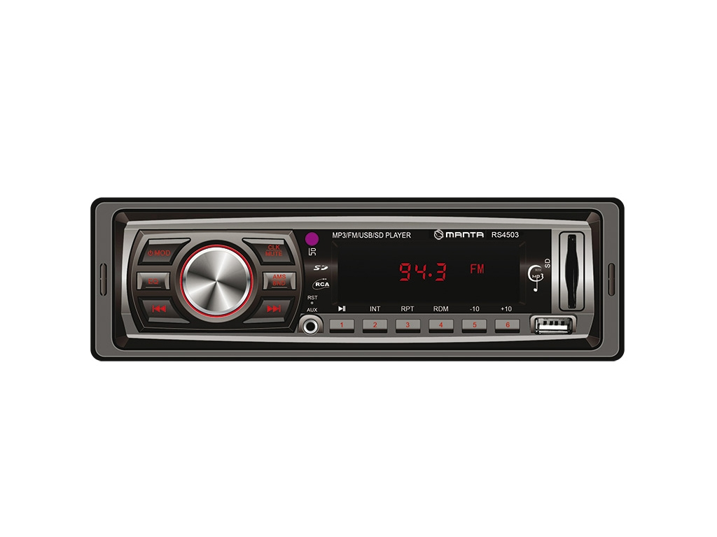 Manta ONTARIO Ράδιο Αυτοκινήτου - MP3 Player 12V, 4x10W με USB/SD/AUX υποδοχές κ gps και είδη αυτοκινήτου   ηχοσυστήματα αυτοκινήτου
