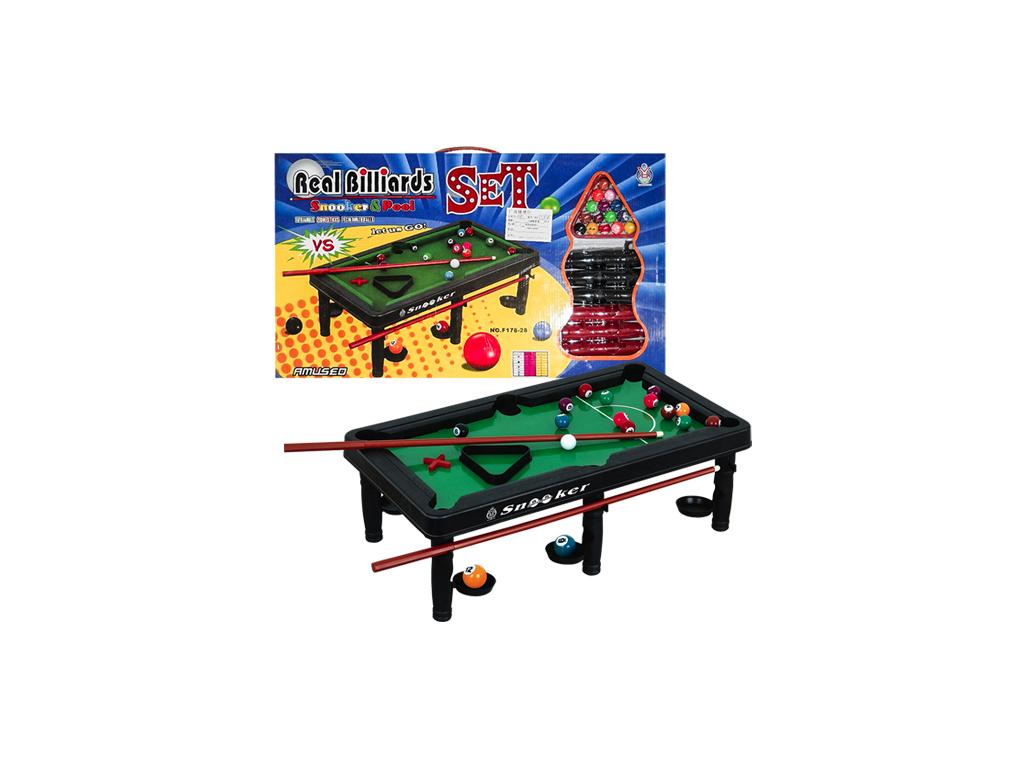 Παιχνίδι Μπιλιάρδο - Μεγάλο Snooker 58x33cm με 2 Στέκες, 16 Μπάλες και Τρίγωνο,  παιχνίδια   άλλα παιχνίδια
