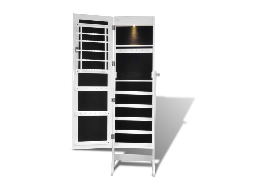 Ξύλινος επιδαπέδιος επιπλο ολόσομως καθρέπτης, Κοσμηματοθήκη-Μπιζουτιέρα 46 x 37