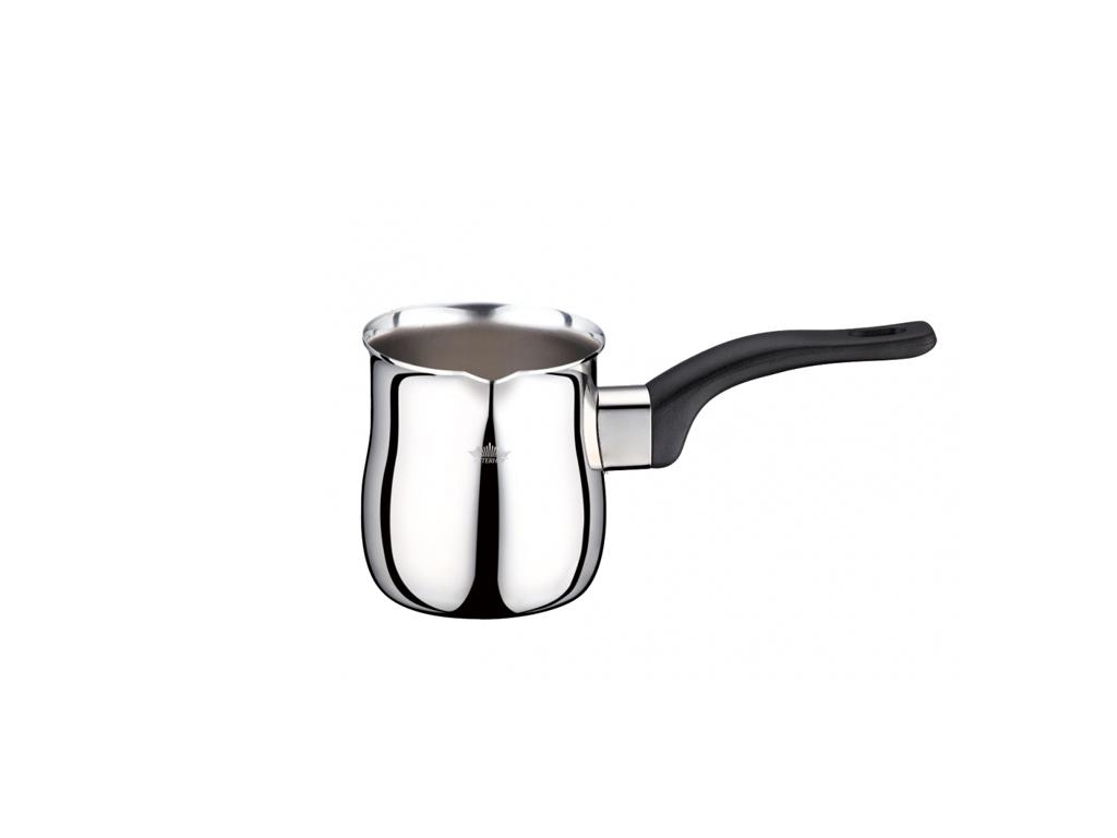 Peterhof Μπρίκι για Ελληνικό καφέ από Ανοξείδωτο ατσάλι με Μαύρη λαβή, PH-12526- ηλεκτρικές οικιακές συσκευές   καφετιέρες και είδη καφέ