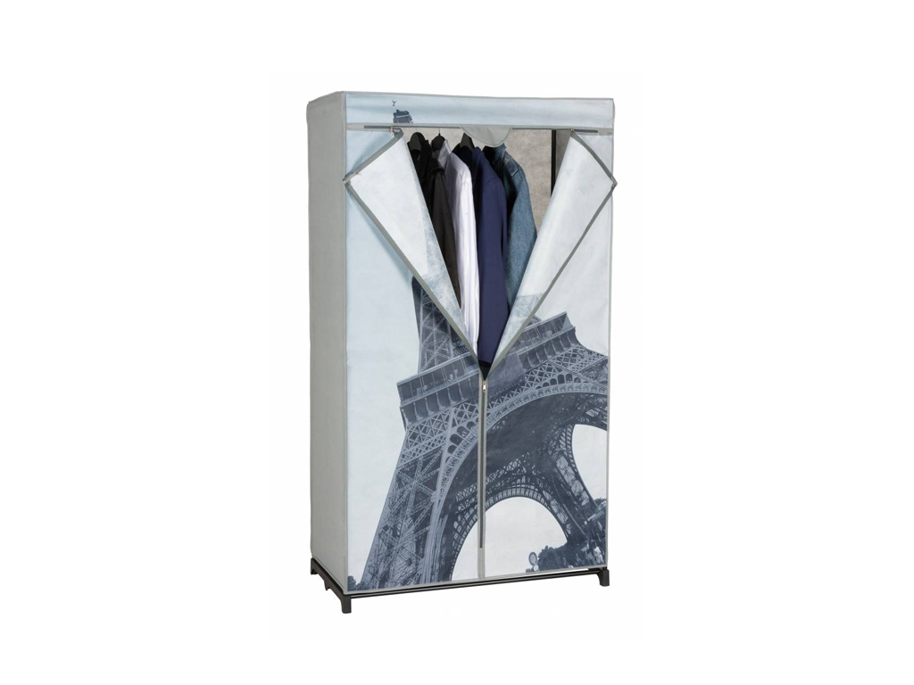 Διπλή Ντουλάπα υφασμάτινη με θέμα Παρίσι 87x45x156cm, 03105 - Cb οργάνωση σπιτιού   ντουλάπες