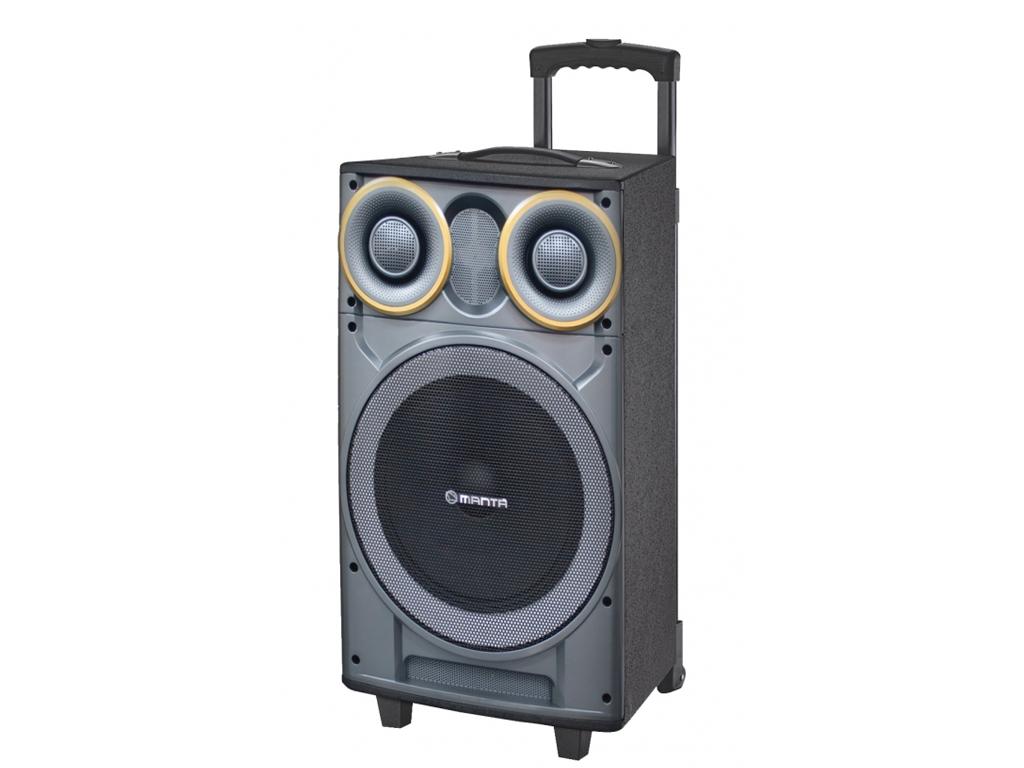 Manta GHUL Ηχεία Καραόκε 2500 P.M.P.O. Bluetooth με LED φωτισμό, FM/Ράδιο και υπ τεχνολογία   ηχεία