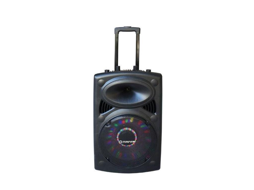 Manta OGRE Ηχεία Καραόκε 2500 P.M.P.O. Bluetooth με LED φωτισμό, FM/Ράδιο και υπ τεχνολογία   ηχεία