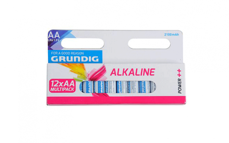 Grundig 51677 Αλκαλικές Μπαταρίες 12τεμ. 2100mah ΑΑ/LR3 - Grundig μπαταρίες   αλκαλικές μπαταρίες