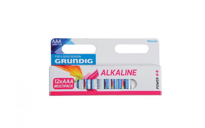 Grundig 51678 Αλκαλικές Μπαταρίες 12τεμ. 950mah ΑΑA/LR3 - Grundig τεχνολογία   μπαταρίες