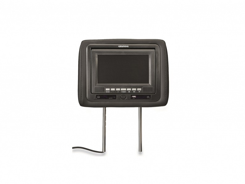 Grundig Προσκέφαλο αυτοκινήτου με οθόνη και ενσωματωμένο DVD Player 7 ιντσών 15x αξεσουάρ αυτοκινήτου   διακοσμητικά αυτοκινήτου