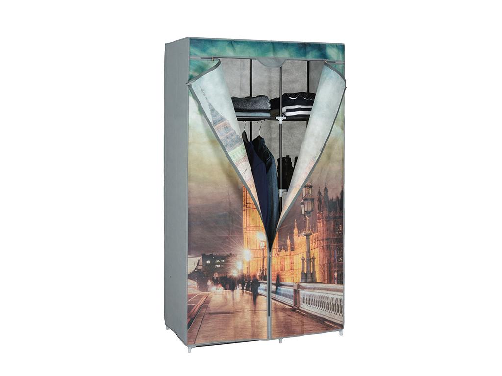 Διπλή Ντουλάπα υφασμάτινη με θέμα Big Ben 88x45x160cm, 03109 - Cb οργάνωση σπιτιού   ντουλάπες