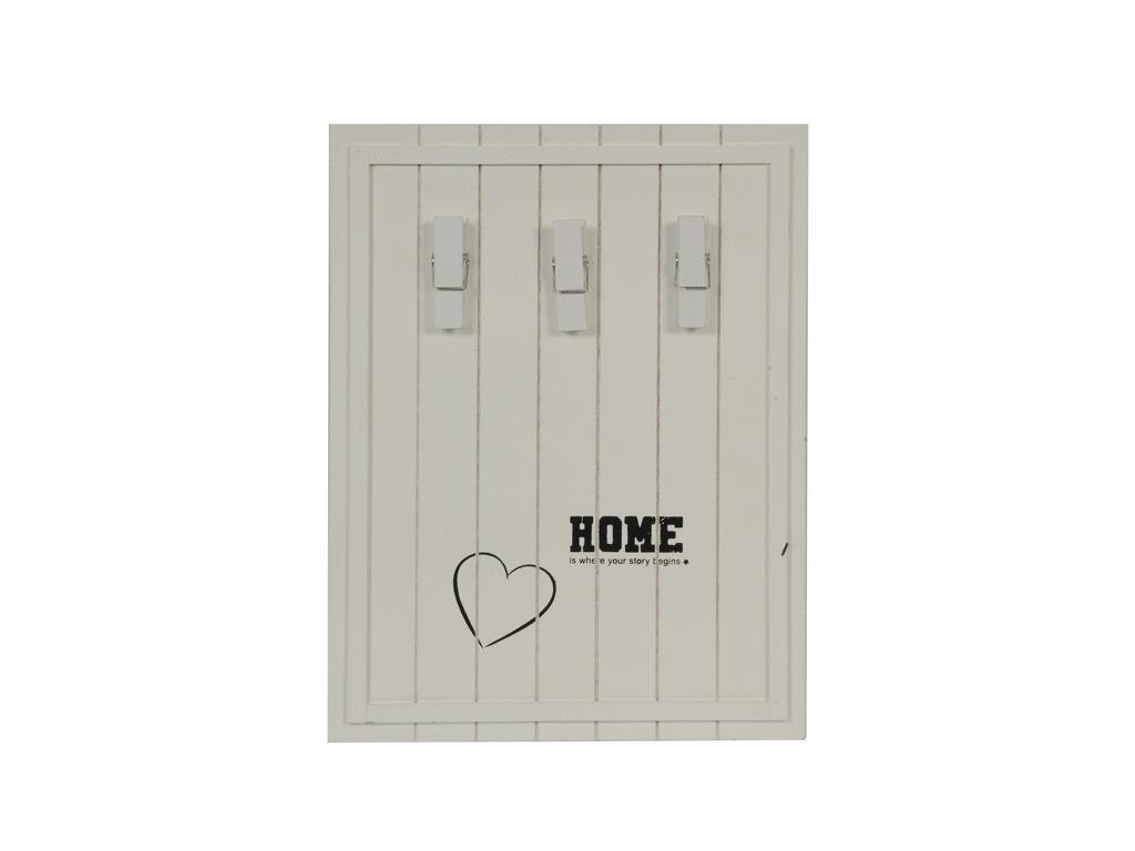 Arti Casa Ξύλινος Πίνακας για Σημειώσεις Memo Board σε Λευκό χρώμα, 88123 - Arti διακόσμηση   κορνίζες πίνακες καθρέφτες