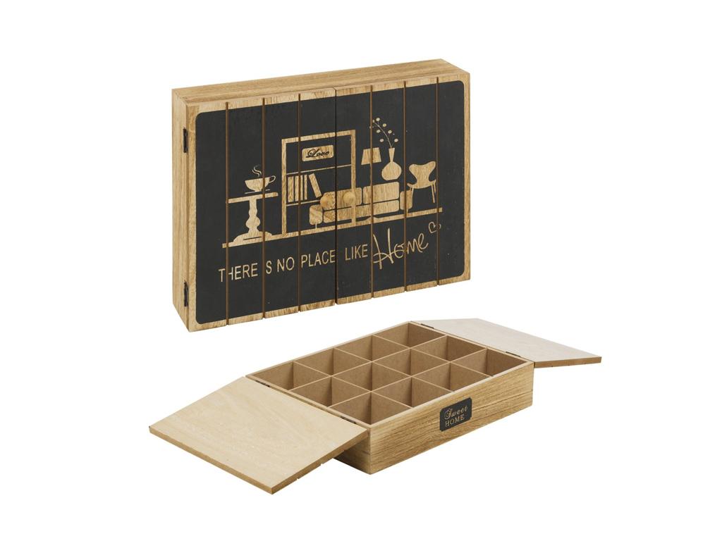 Arti Casa Ξύλινο Vintage Πρακτικό Κουτί αποθήκευσης για φακελάκια τσαγιού Tea bo κουζίνα   κουτιά κουζίνας και ψωμιέρες