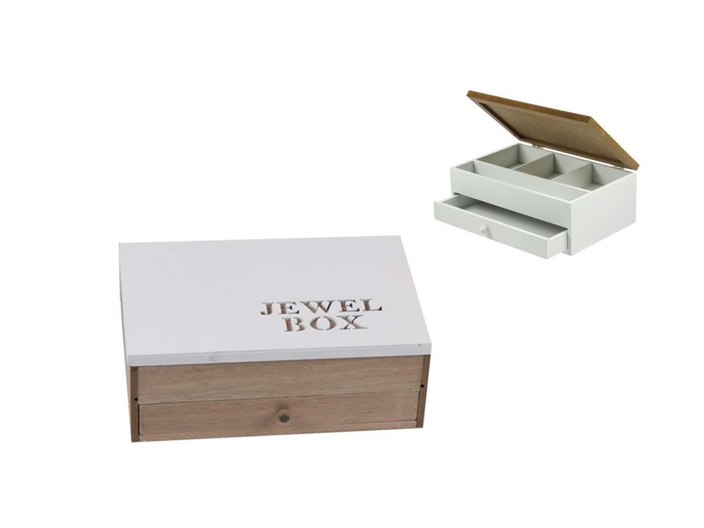"""Arti Casa Ξύλινο Κουτί αποθήκευσης """"Jewel Box"""" σε Φυσικό χρώμα ξύλου 24x16x9cm γ έπιπλα   μπαούλα και κουτιά αποθήκευσης"""