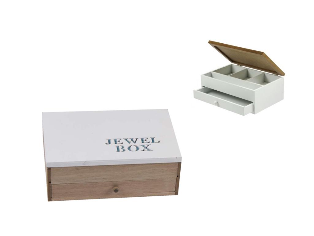"""Arti Casa Ξύλινο Κουτί αποθήκευσης """"Jewel Box"""" σε Γαλάζιο χρώμα 24x16x9cm για τα οργάνωση σπιτιού   κουτιά αποθήκευσης"""