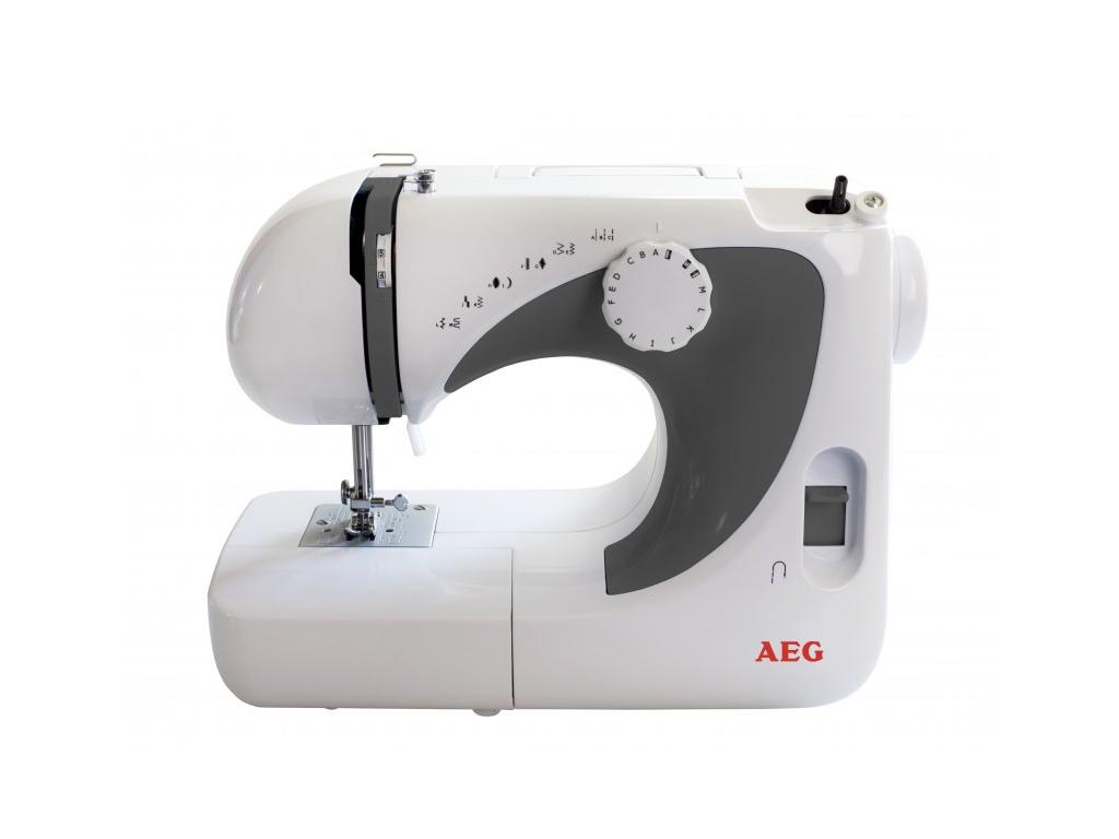 AEG Ραπτομηχανή Sewing machine 85W με 600 βελονιές ανά λεπτό, Μπουτόν ποδιού και οικιακά είδη   ραπτομηχανές