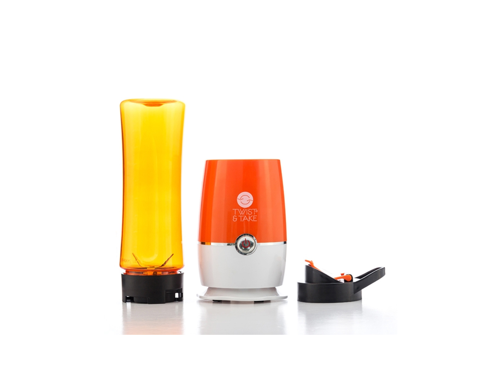 Twist and Take Μπλέντερ (Blander) 180W με Λεπίδες από Ανοξείδωτο ατσάλι σε Πορτοκαλί χρώμα, B1505146 – Twist and Take