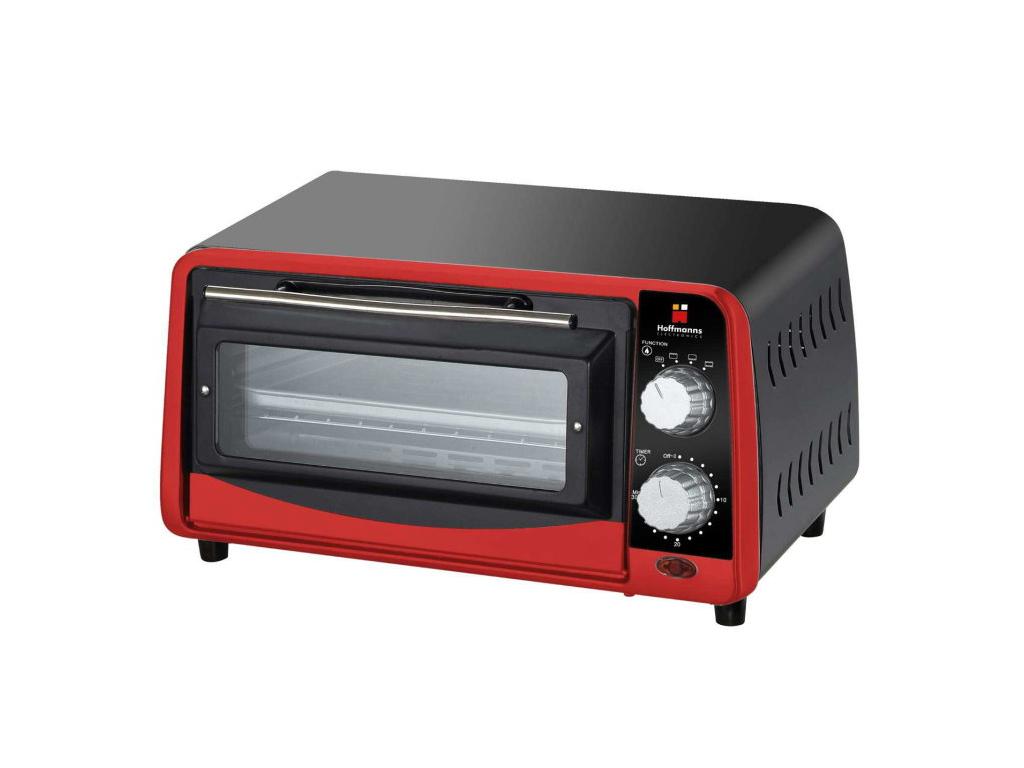 Hoffmanns Μίνι Φουρνάκι 9lt 800W 35,5x21x20cm σε Μαύρο/Κόκκινο χρώμα, 20477 - Ho ηλεκτρικές οικιακές συσκευές   φουρνάκια