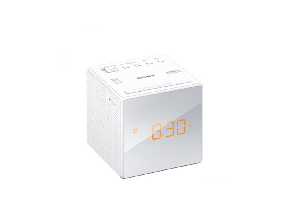 Sony Ραδιοξυπνητήρι με οθόνη καθρέπτη σε Λευκό χρώμα, Sony ICFC1 - Sony ήχος   ραδιόφωνα ξυπνητήρια