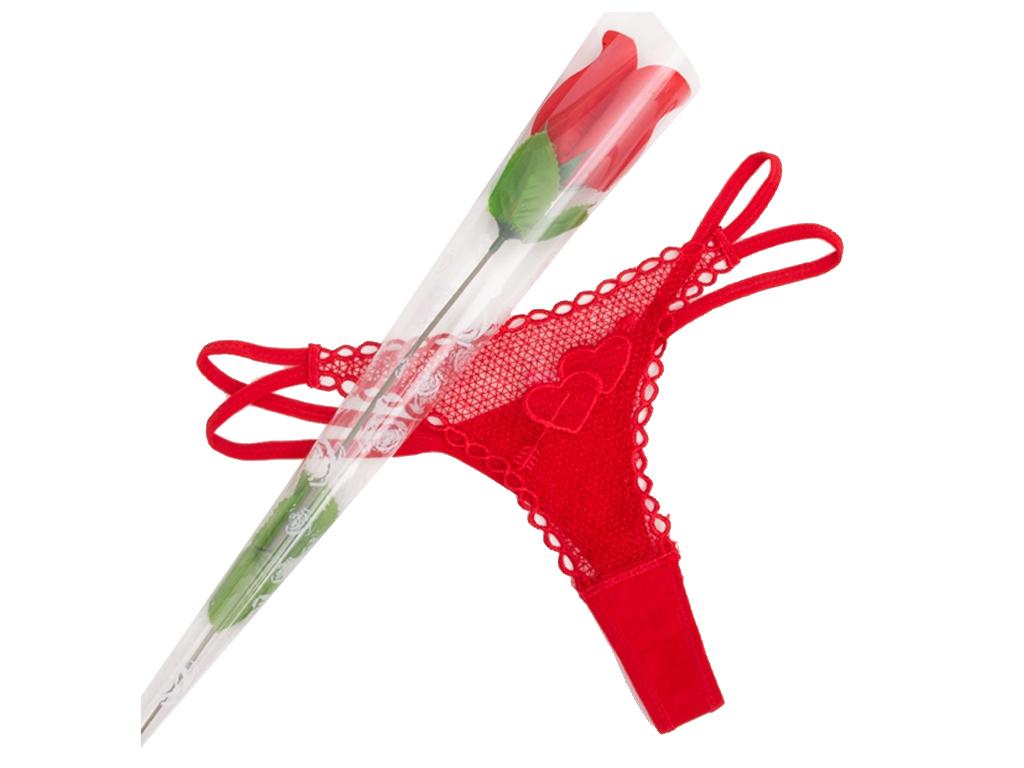 Τριαντάφυλλο - Γυναικείο Εσώρουχο Στρινγκ (String) σε Κόκκινο χρώμα, V0300132 -  γυναίκα   εσώρουχα