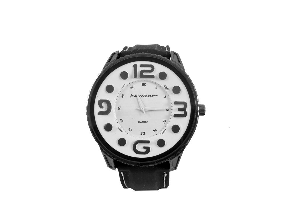Dunlop Ρολόι Sport Unisex, ελβετικός μηχανισμός Quartz, Μαύρο με Λευκό καντράν κ ρολόγια χειρός   unisex ρολόγια χειρός