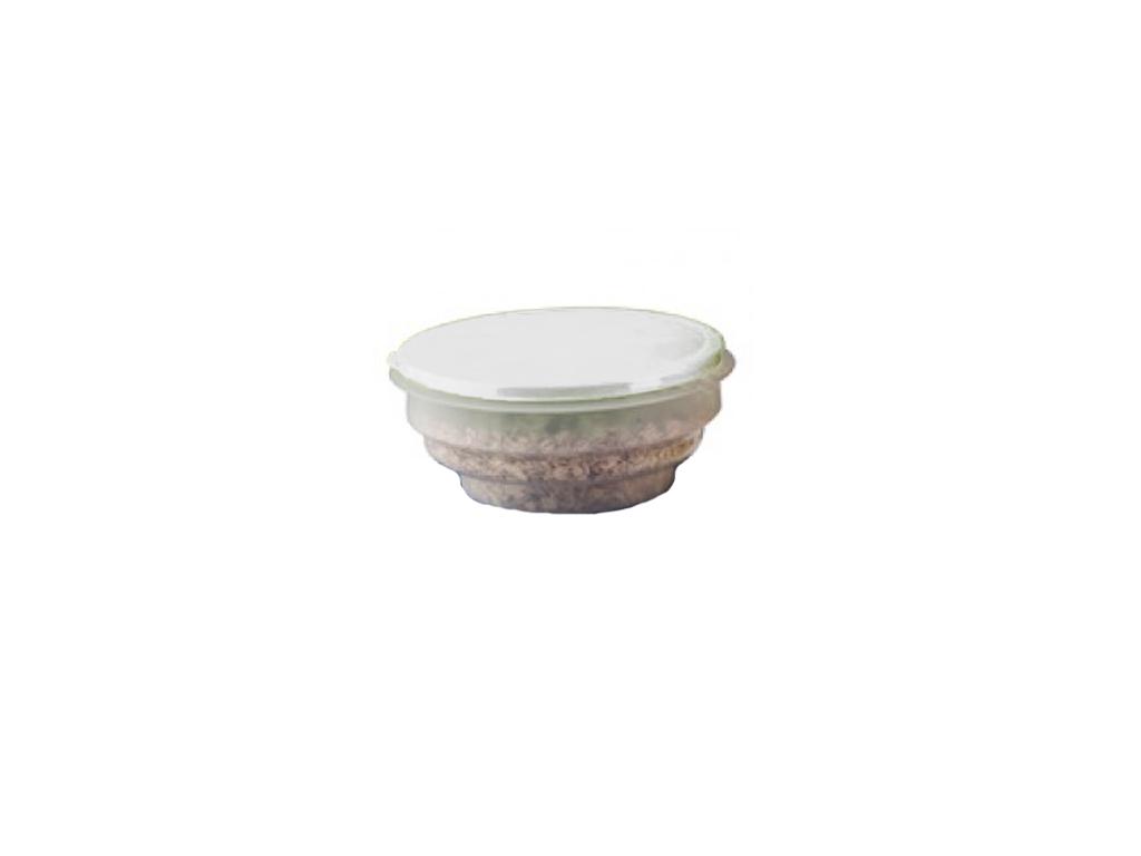 Τάπερ Φαγητού Διάφανο Μπολ Φαγητοδοχείο αποθήκευσης Πτυσσόμενο 1.4lt με Πλαστικό καπάκι, 98099 Χρώμα Λευκό - Cb