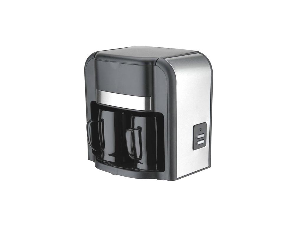 Sogo Καφετιέρα Φίλτρου 500W για 2 Κούπες καφέ σε Μαύρο χρώμα, CAF-SS-022 - SOGO ηλεκτρικές οικιακές συσκευές   καφετιέρες και είδη καφέ