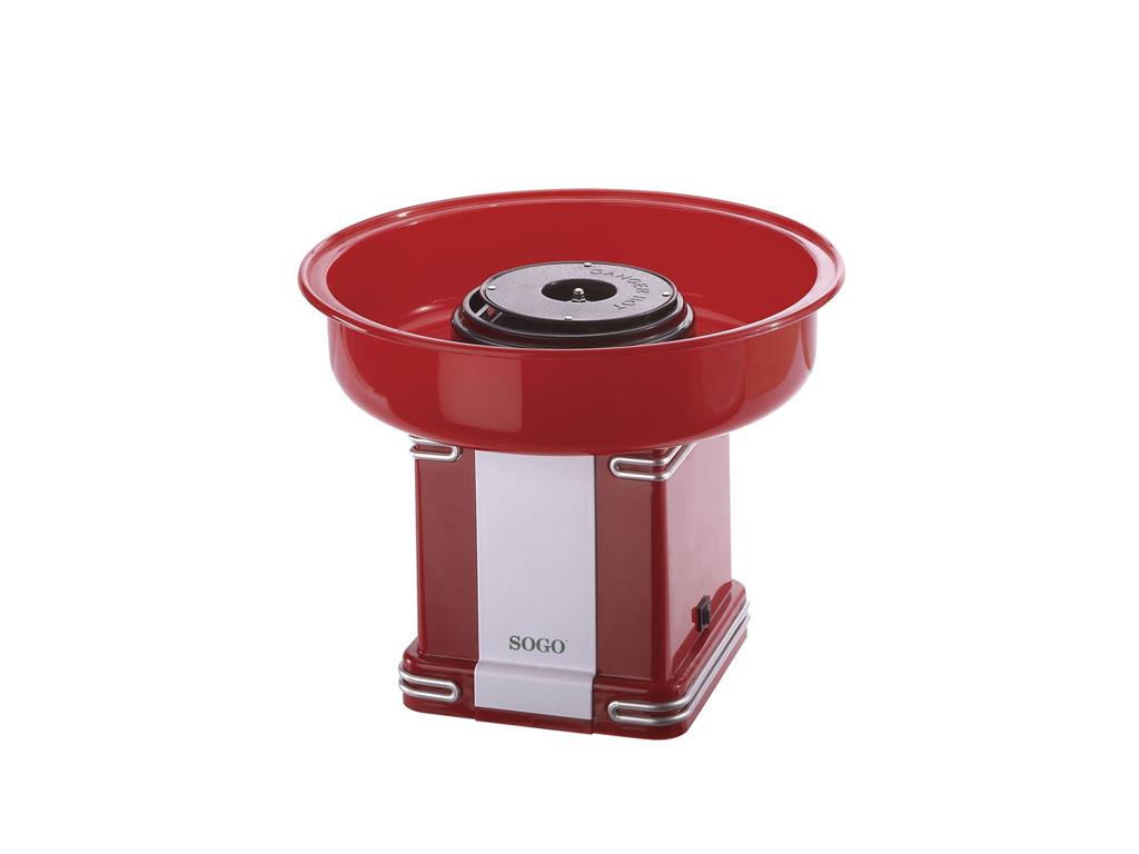 Sogo Συσκευή για Μαλλί της Γριάς Ρετρό 500W - Retro Candy Cotton Maker με κουτάλ ηλεκτρικές οικιακές συσκευές   παρασκευαστές για μαλλί της γριάς