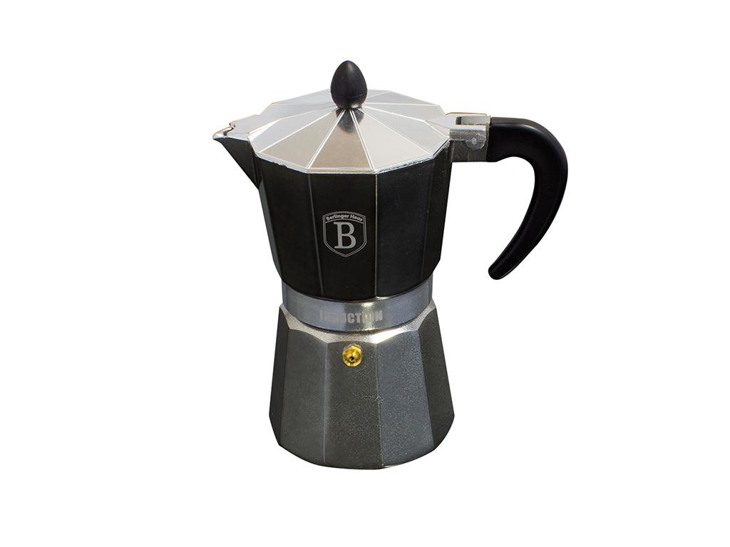 Berlinger Haus Καφετιέρα για Espresso από Αλουμίνιο για 6 φλυτζάνια καφέ σε Γκρι μικροσυσκευές   ηλεκτρικές εστίες