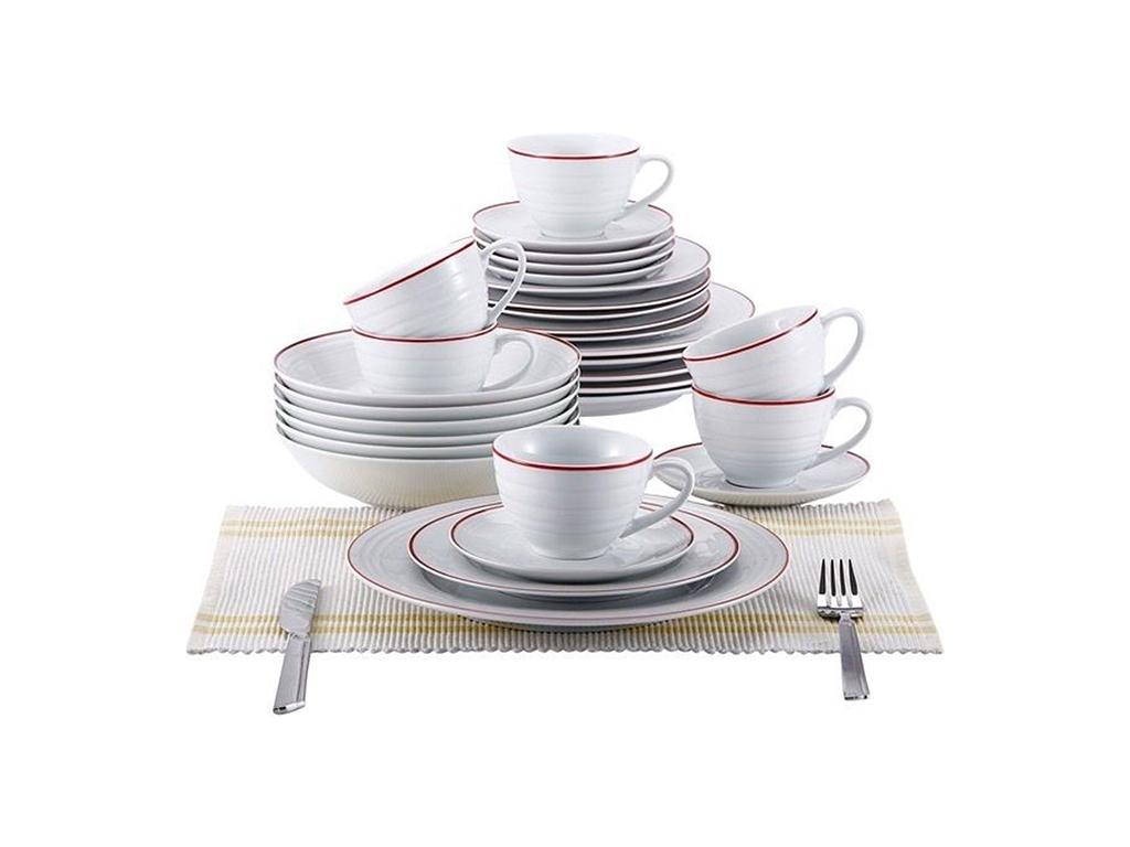 Blaumann Σετ Σερβίτσιο 30 τεμ. από Πορσελάνη αποτελούμενο από Πιάτα και Κούπες σ σερβίρισμα   σερβίτσια