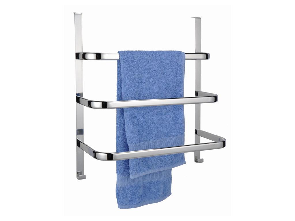 Μεταλλική Κρεμάστρα Πόρτας Inox για το Μπάνιο 56x49x25cm με 3 ράφια, 33128 - Cb μπάνιο   κουρτίνες  χαλάκια και ράγες πετσετών