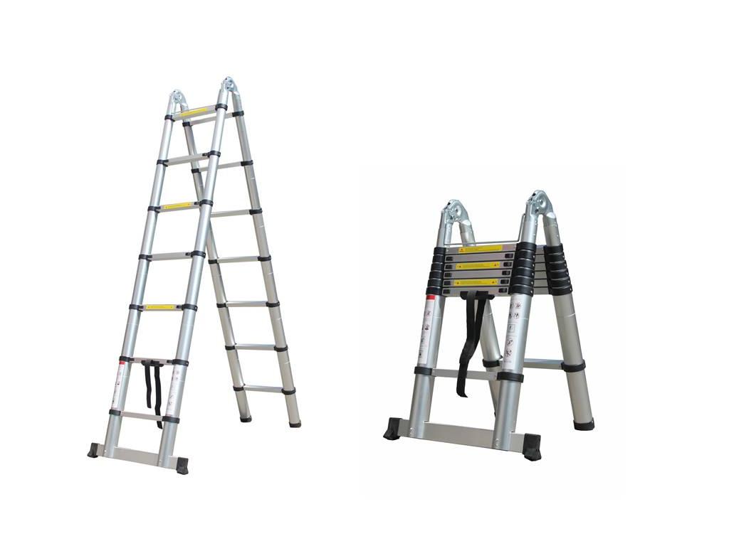 Herzberg Τηλεσκοπική Σκάλα 4.40 m από Αλουμίνιο με 13 σκαλιά και αντιολισθητικά  horeca   επαγγελματικά