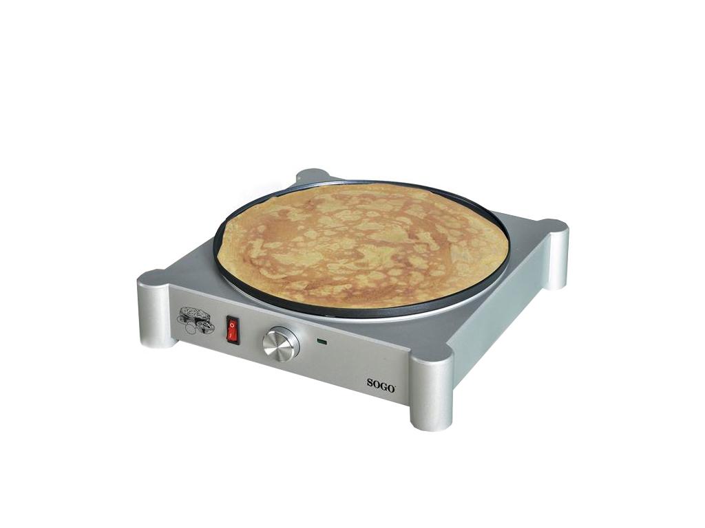 Sogo Ηλεκτρική Κρεπιέρα 30cm 1000W από Χυτό αλουμίνιο με αντικολλητική επίστρωση για την κουζίνα   σκεύη μαγειρικής