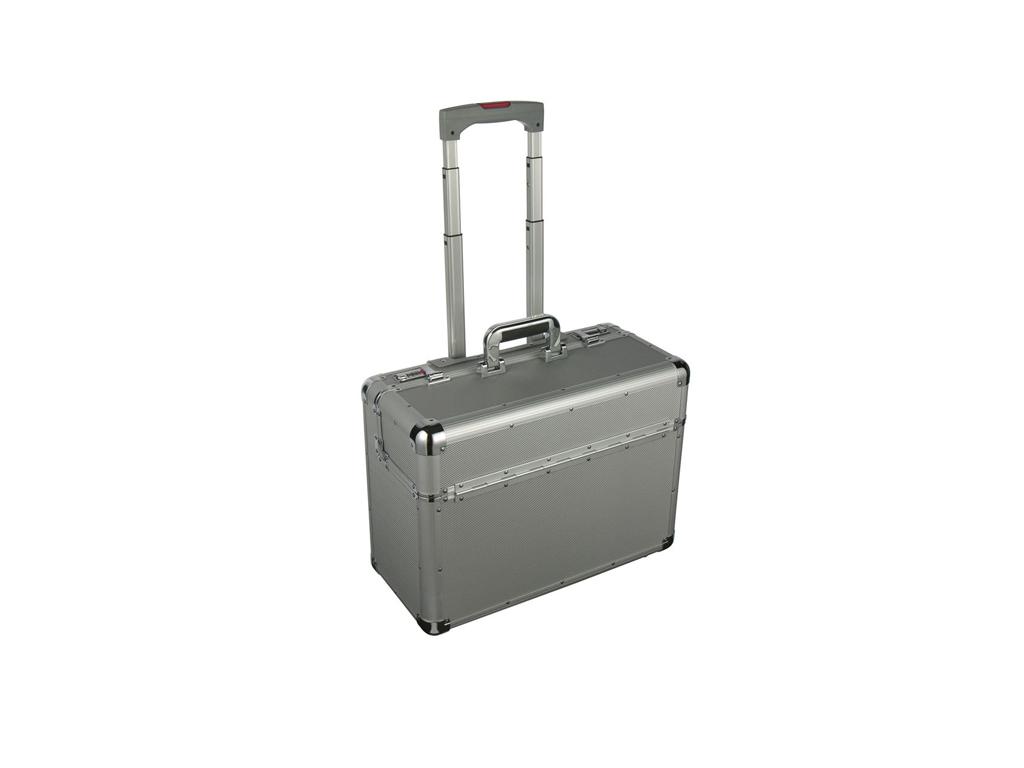 Τσάντα Trolley Πιλότου από Αλουμίνιο 47,5x22x35cm με Τηλεσκοπικό Χερούλι, 77024  ρούχα  παπούτσια  και  αξεσουάρ   τσάντες  πορτοφόλια  βαλίτσες ταξιδίου