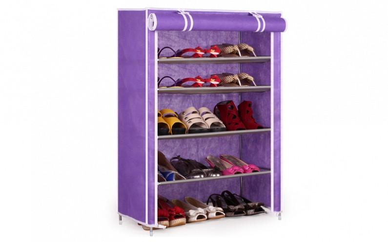 Φορητή Υφασμάτινη Ντουλάπα – Παπουτσοθήκη 90x60x30cm, Shoe Cabinet 6588 Μωβ – OEM