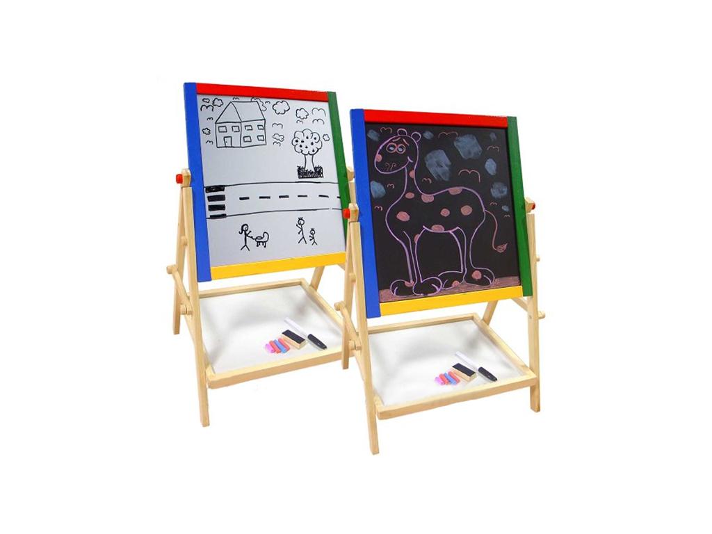 Marionette Wooden Toys Παιδικός Μαυροπίνακας & Λευκός Πίνακας με ξύλινο σκελετό  παιχνίδια  παιδί  και  βρέφος   έξυπνα   εκπαιδευτικά παιχνίδια