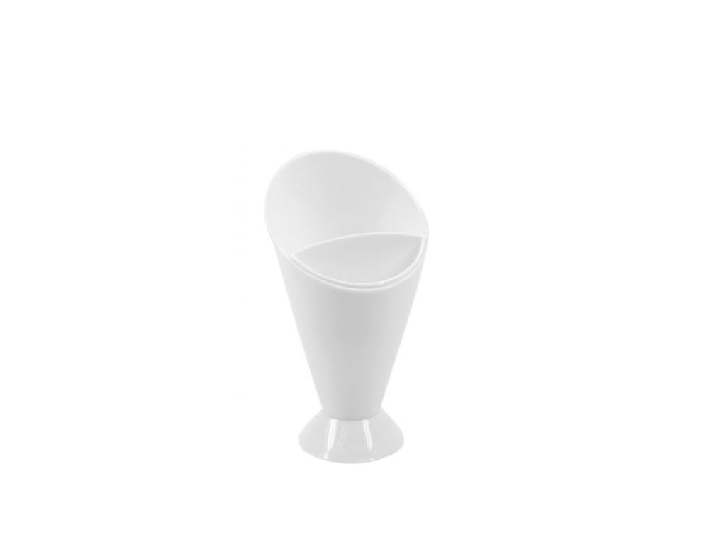Cuisine Elegance Πλαστικό δοχείο για Σνακ με 2 διαμερίσματα 9.5x9.5x16.5 cm, 90092 - Cuisine Elegance