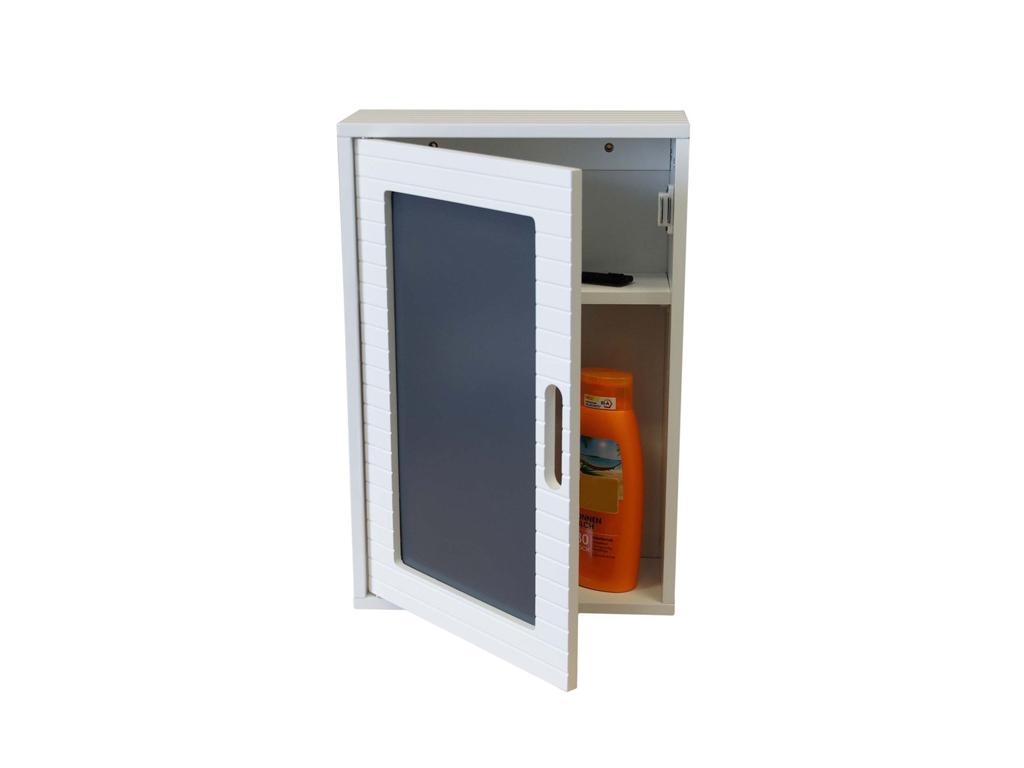 Homestyle Ξύλινο Ντουλάπι Τοίχου με μαγνητικό κλείσιμο 48x32x13cm Ιδανικό για το μπάνιο   έπιπλα μπάνιου